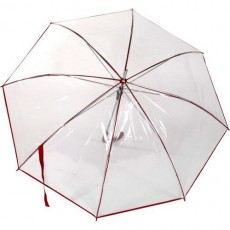 Parapluie Rainy Days transparent automatique  liseret rouge