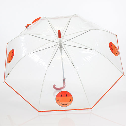 Parapluie transparent Smiley orange