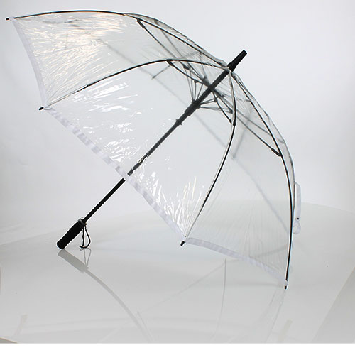 Parapluie golf transparent liseret blanc