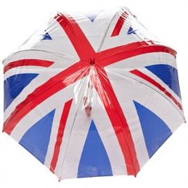Parapluie enfant transparent Union Jack fulton