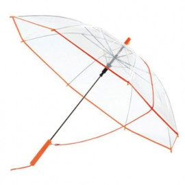 Parapluie transparent et orange