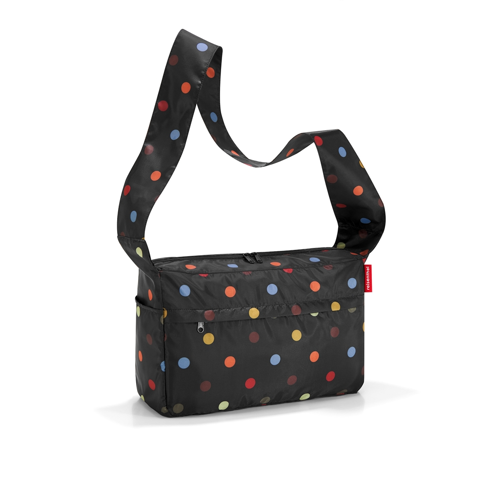 Mini maxi citybag noir pois multicolores
