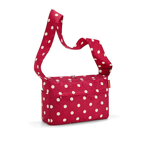 Mini maxi citybag rouge à pois