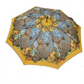 Grand parapluie Cardin papillons orange