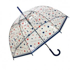 parapluie cloche transparent I love rain