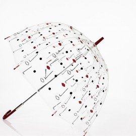 Parapluie transparent design visages par Lulu Guinness