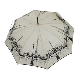 Parapluie long les ponts de Paris ivoire