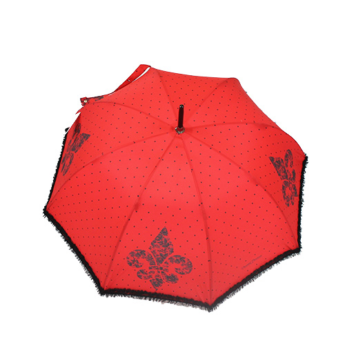 Parapluie rouge Chantal Thomass Fleur de Lys