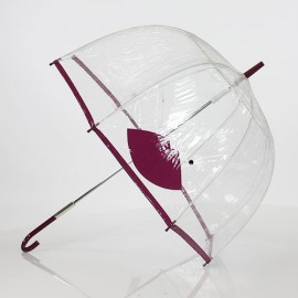 Parapluie transparent violet fantaisie