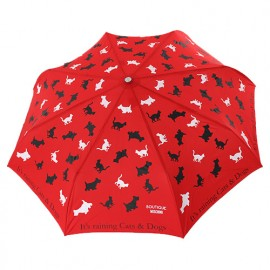Parapluie cats and dogs rouge Moschino