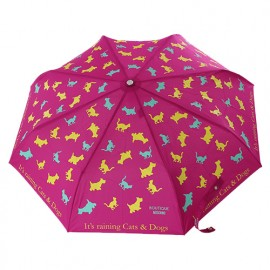 Parapluie cats and dogs fuchsia Moschino