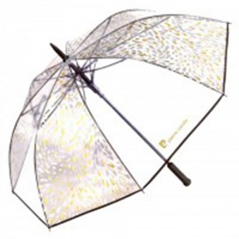 Grand parapluie golf transparent Pierre Cardin