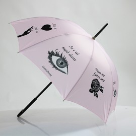 Parapluie long clin d 'oeil Chantal Thomass rose