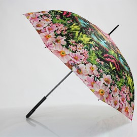 Parapluie canne motif tropical jean paul gaultier