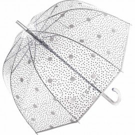 Parapluie cloche transparent Esprit  pois argents