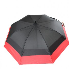 Grand parapluie tempête double extension rouge