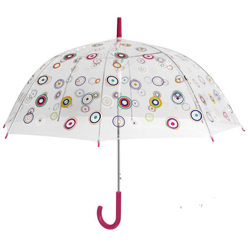 Parapluie transparent cloche bulles multicolores