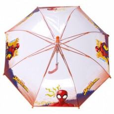 Parapluie enfant transparent Spiderma baleines oranges