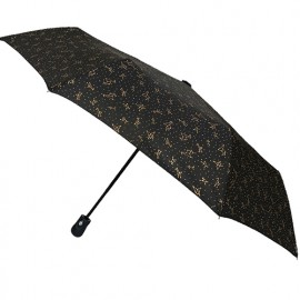Parapluie noir pliant solide constellations