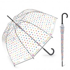 Parapluie transparent cloche pois multicolores Benetton Edition 2020