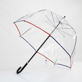 Parapluie canne transparent le Tricolore
