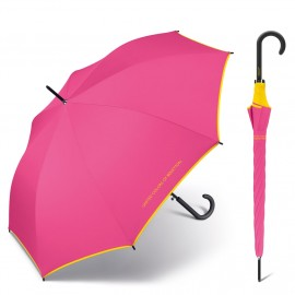Parapluie droit rose intense Benetton