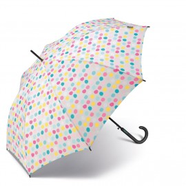Parapluie long Benetton a pois multicolores