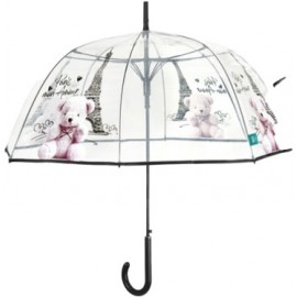Parapluie cloche transparent Paris mon Amour